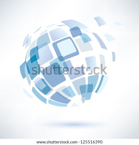 raster version. abstract globe symbol, internet and social network concept