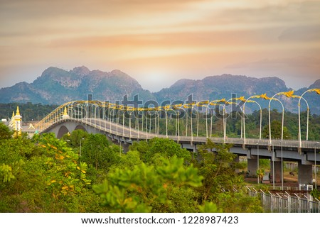 3rd Thai-Lao Friendship Bridge at nakhon phanom,The Third Thai–Lao Friendship Bridge over the Mekong is a bridge that connects Nakhon Phanom Province in Thailand with Thakhek, Khammouane in Laos.