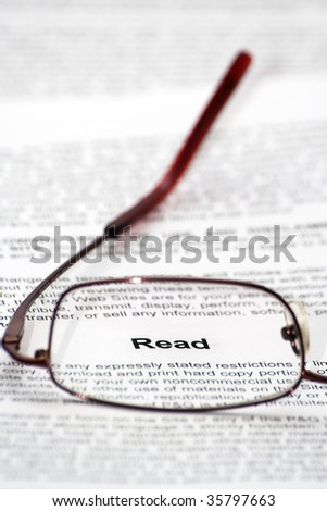 """""""Read"""" word focused thought glasses"""