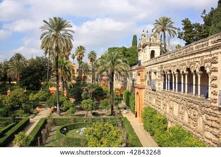 """Reales Alcazares"" gardens in Seville"
