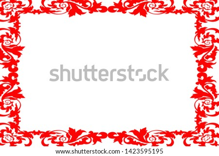 red color edged background and border #1423595195