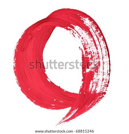 0 - Red handwritten digits over white background