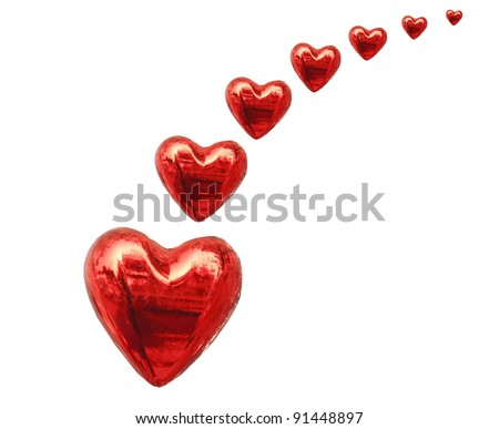 red heart - stock photo