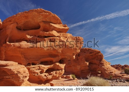 Red rock formation in Valley Of Fire State Park, Nevada