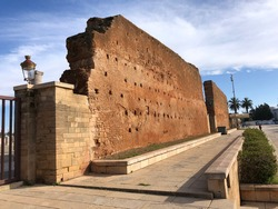 Red sandstone, important historical and tourist complex in rabat morocco