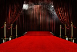 Red Stage background party red carpet background