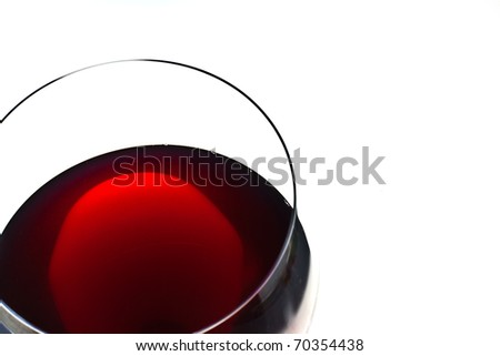,red wine in glass ,