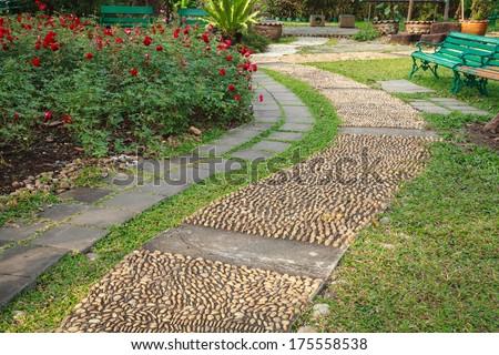 reflexology pebble path