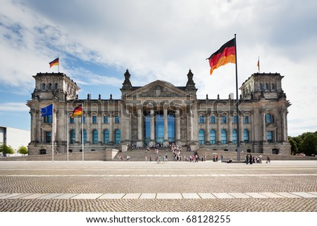 Reichstag - a building of parliament of Germany and one of the main sights of Berlin