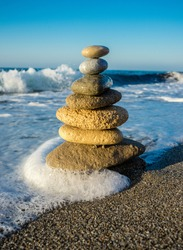 Relaxation Sea Form Wave Stone Nature