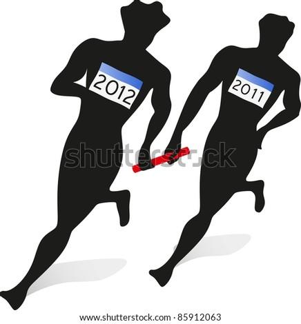 2012 relay race - stock photo