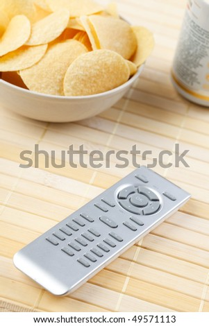 remote control and chips