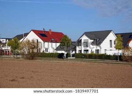 residential area in Nieder-roden, Germany Stock foto ©