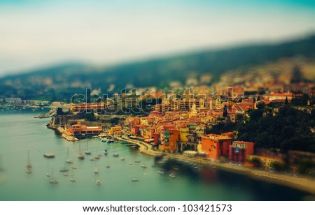resort and bay of Cote d'Azur in France - stock photo