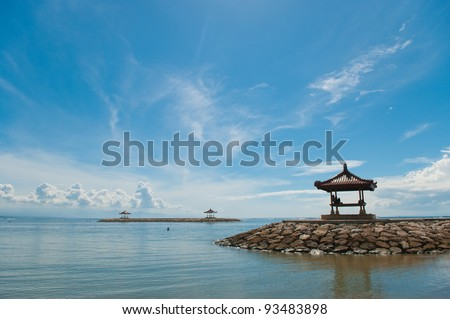 ShutterStock rest-houses at sanur beach on bali 93483898