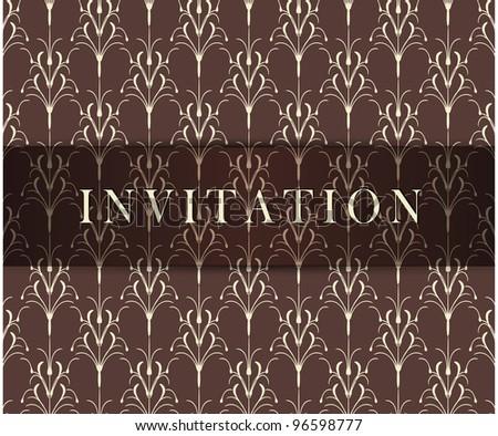 Retro brown invitation card