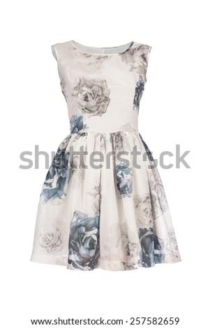 Retro dress isolated on white background