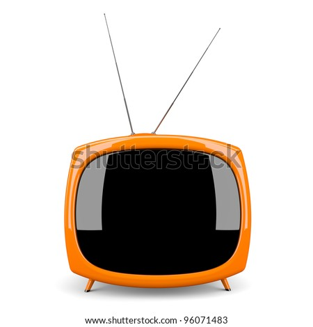 Retro tv  isolate on white background