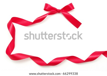 ribbon on white