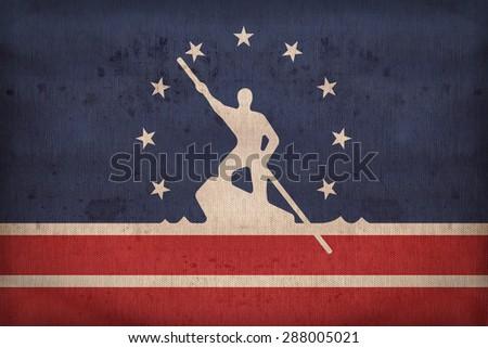 richmond  virginia flag on...