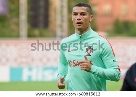 09.06.2017. RIGA,LATVIA. Cristiano Ronaldo before  FIFA 2018 Qualification game between Latvia-Portugal. Riga, LATVIA.