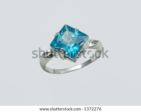 Ring with big sapphire