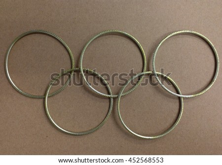 rings with text. Olympic card template. Brazill 2016. Minimalism.  #452568553