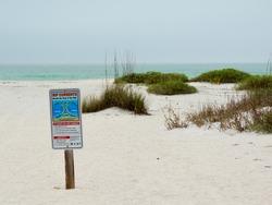 Rip Currents Warning on Gasparilla Island Beach