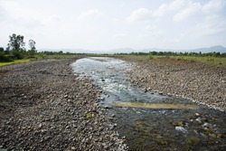 river at village.