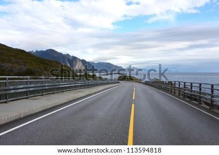 road along sea coastline
