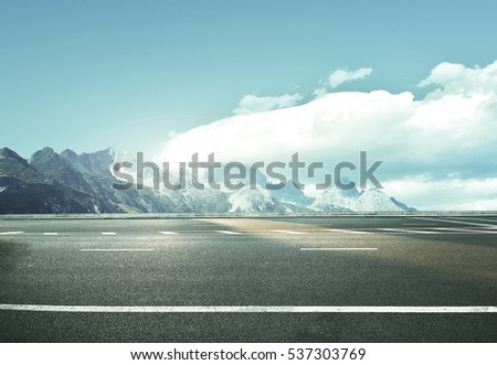 road at the european alps