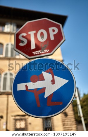 road sign road sign road sign             #1397193149