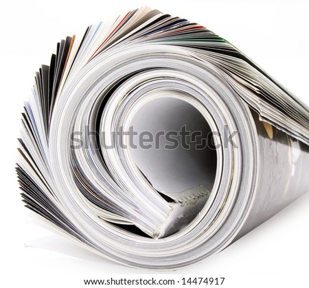 rolled up magazine