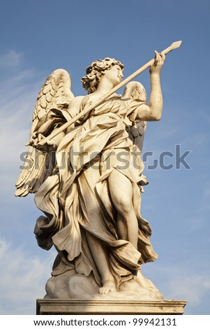 Rome - Angel with the Lance by Domenico Guidi, Ponte Sant'Angelo - Angels bridge