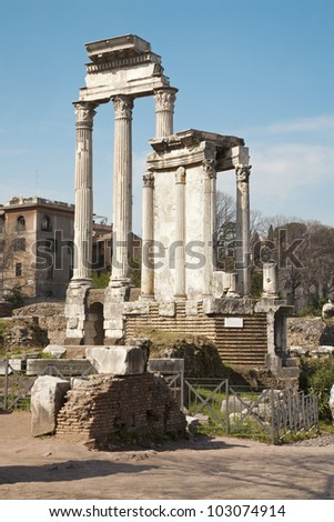 Rome - columns of Forum romanum