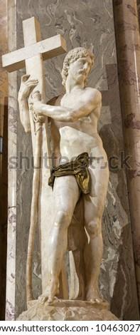 ROME, MARCH - 23: Jesus statue in Santa Maria sopra Minerva church by Michelangelo. March 23, 2012 in Rome, Italy