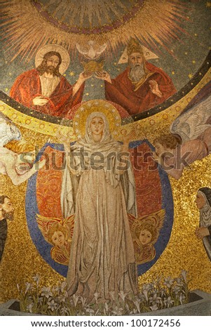 Rome - mosaic of Virgin Mary from apse of church
