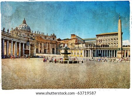 rome vatican   artistic retro...