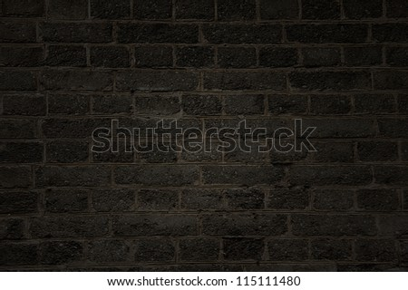 Rough  black brick wall