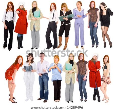 "2 rows of people -  of  ""Groups of people"" series in my portfolio - stock photo"