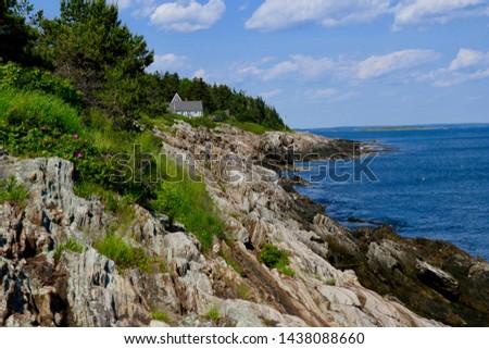 Rugged Maine Coastline Summer View                               #1438088660