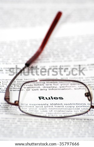 """Rules"" word focused thought glasses"