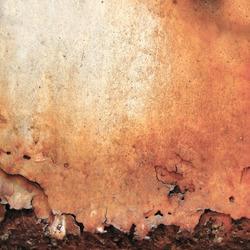 Rusty, mottled yellow, old iron