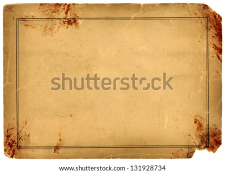 1800s Antique Blood Stained Paper Background Texture