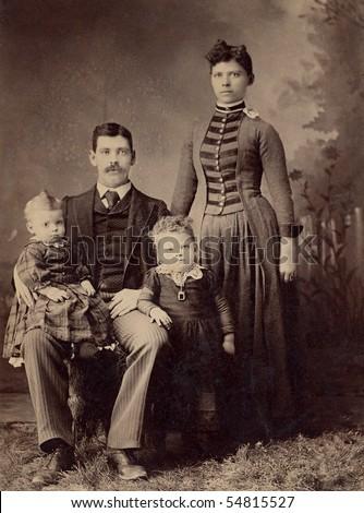 1800s antique family portrait...