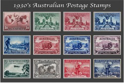1930's Australian Postage Stamp Collection
