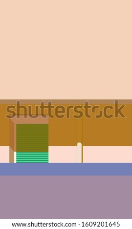 80s estetik minimal background with pastel colors and simple styling Stok fotoğraf ©