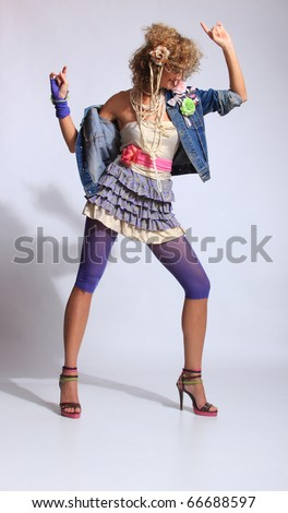 80's Fashion For Teenagers s Fashion woman over gray