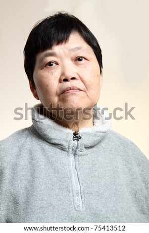 60s Senior Asian Woman