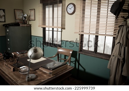 1950s style office with...